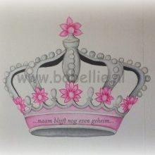Muurschildering kroon www.bobellie.nl