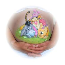 Bellypaint Winnie the Pooh and friends www.bobellie.nl
