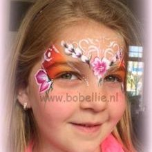 Schminken bloemendesign www.bobellie.nl