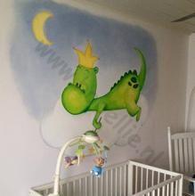 Bobellie-muurschildering draakje